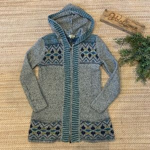 Royal Robbins zip up wool blend sweater